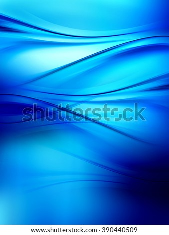 Abstract background powerful effect lighting. Blue blurred color waves design. Glowing template for your creative graphics.