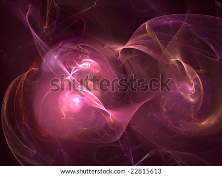 Abstract background. Purple - orange palette. Raster fractal graphics.