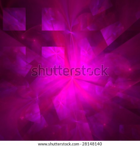 Abstract background. Purple - pink palette. Raster fractal graphics. - stock photo
