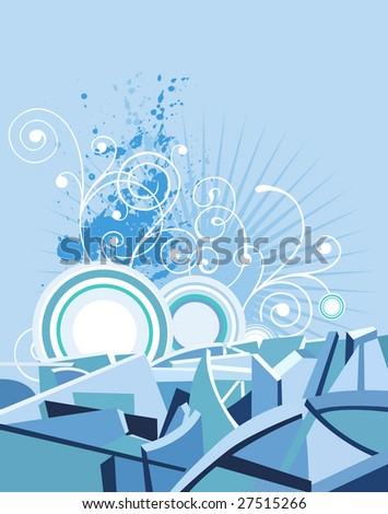Abstract Background. Raster version of vector illustration. - stock photo