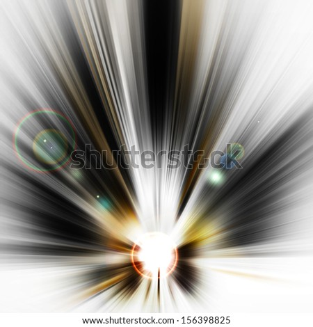 Abstract Background - rays of colorful light - stock photo