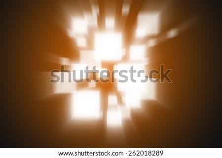 Abstract background rays orange colour - stock photo