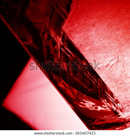 Abstract background - red and black streaks - stock photo
