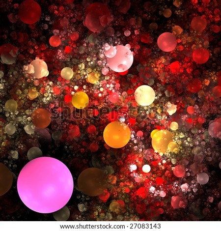 Abstract background. Red - yellow palette. Raster fractal graphics.