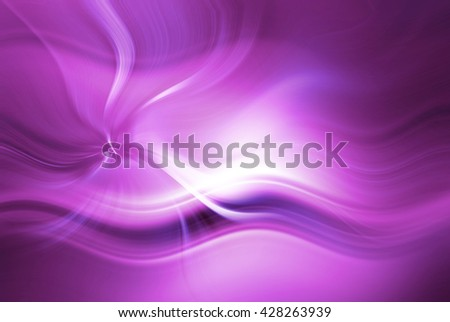 Abstract background representing speed, motion and burst of colors and light in purple, pink and white colors. - stock photo