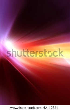 Abstract background representing speed, motion and burst of colors and light in purple, pink, red, yellow and white colors. - stock photo