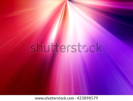 Abstract background representing speed, motion and burst of colors and light in purple, pink, red and white colors. - stock photo