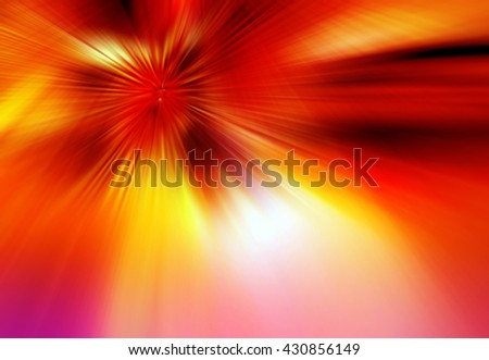 Abstract background representing speed, motion and burst of colors and light in red, orange and yellow colors. - stock photo