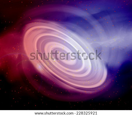 Abstract background. Spiral galaxy