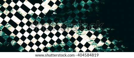 "Abstract background, texture of a checkered flag. Pattern for topics race, rally, car, automobile races. Grungy texture, is ""dirty"" and some ""graininess"" - stock photo"
