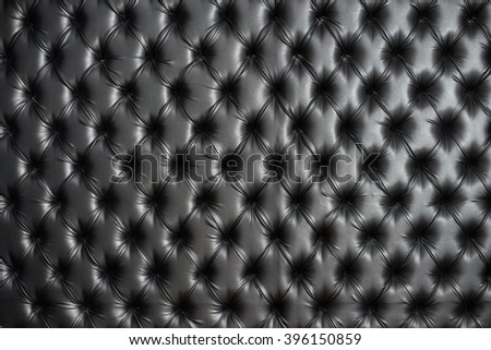 Abstract background texture of an old natural luxury, modern style leather with rhombs. Classic black grungy skin of retro wall, door, sofa or studio interior. - stock photo