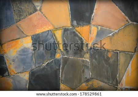Abstract background texture of ceramic tile walkway. - stock photo