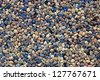 Abstract Background Texture Of Grungy Pebble Pool Paving Material - stock photo