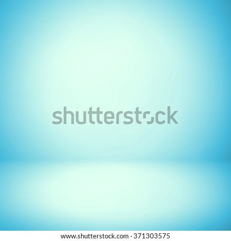 Abstract background texture of light blue and gray gradient wall, flat floor. for product. - stock photo