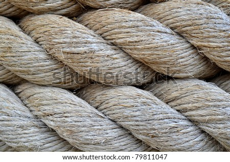 Abstract Background Texture Of Thick, Strong Rope - stock photo