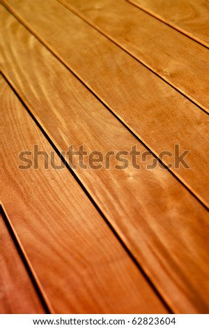 Abstract Background Texture of Wooden Floor Boards With Shallow Depth of Focus - stock photo