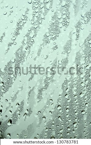 Abstract background texture with water drops on glass