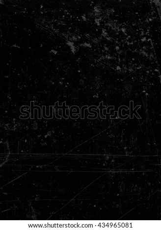 Abstract background textured in pitch black with scratches and stains.