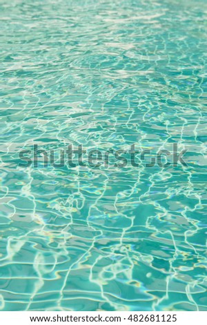 abstract background, The sunlight of the  water in the pool , dimensional waves on water.
