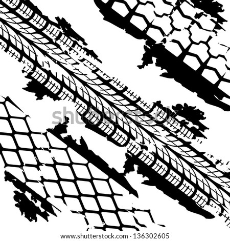Abstract background tire prints,  illustration - stock photo