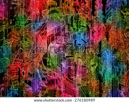 Abstract Background Using Photoshop - stock photo