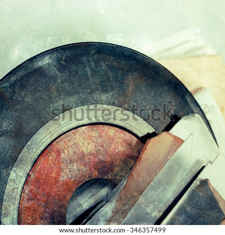 Abstract  background - vinyl on blurred background - stock photo