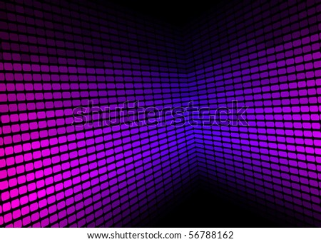 Abstract Background - Violet Equalizer - stock photo
