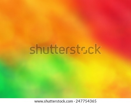 Abstract background. Vivid red, orange and green background with motion and blur effect. - stock photo