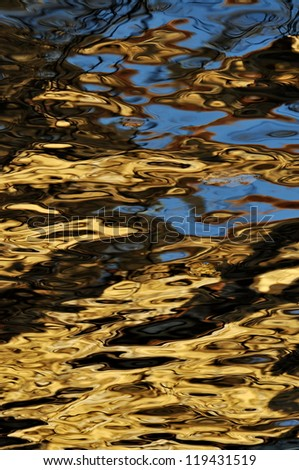abstract background water mirror with waves, vertical - stock photo