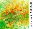 Abstract background, watercolor, beautiful hand painted on a paper. Pink, red, orange, violet, yellow, green - stock photo