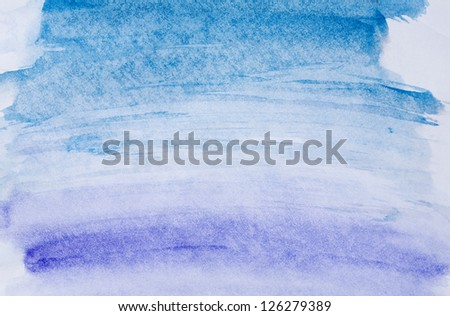 Abstract background, watercolor hand paint blue and purple color