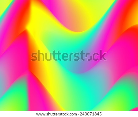 Abstract background, waves with colorful wet paint with blur effect. Modern digital art.