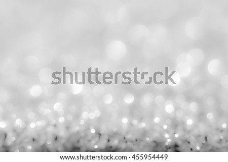 abstract background white bokeh circles for Christmas background - stock photo