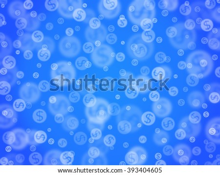 Abstract background with a dollar sign