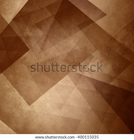 abstract background with angles and triangles, blocks and diamond shapes in random layered pattern, sepia coffee color brown background image with warm orange hues - stock photo
