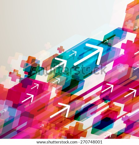 Abstract background with arrows. - stock photo