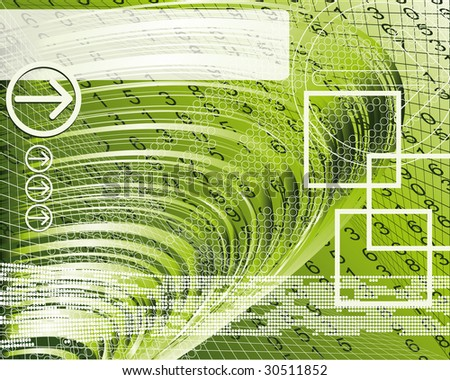 Abstract background with arrows and squares