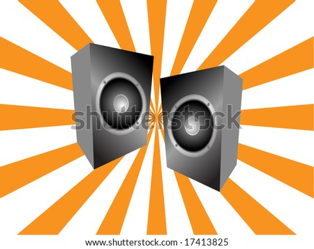Abstract background with audio speaker