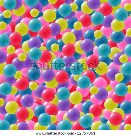 Abstract background with balls or balloons in bright colors. - stock photo