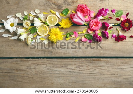 Abstract background with beautiful flowers - stock photo