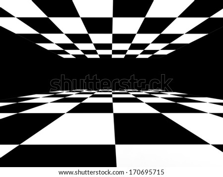 Abstract background with black and white squares - stock photo
