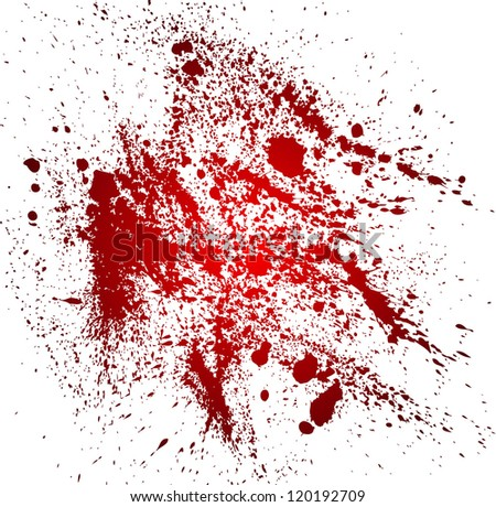 Abstract background with blood splatters - stock photo