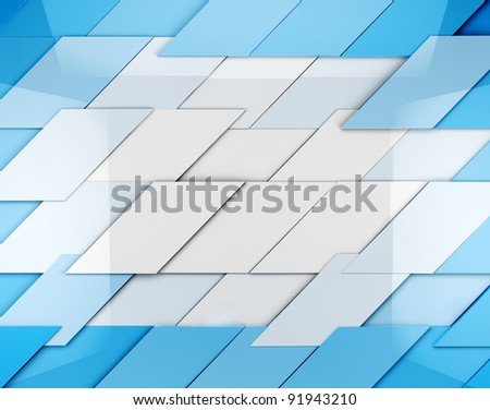 abstract background with blue cubes - stock photo