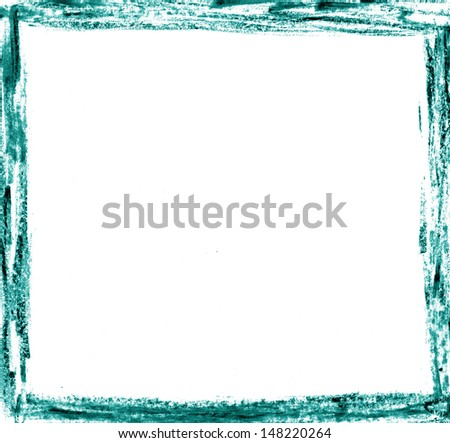 Abstract Background Blue Handpainted Frame Stock Illustration ...