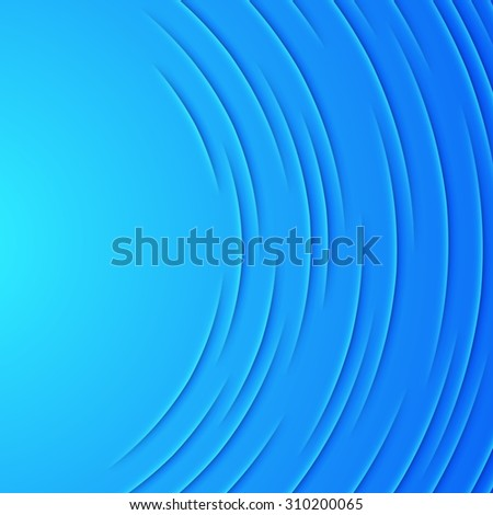 Abstract background with blue paper layers - stock photo