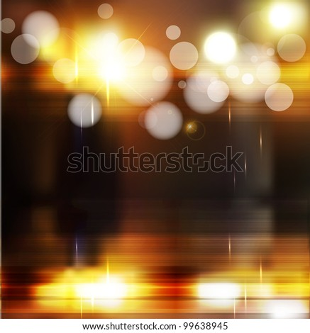 abstract background with blurred defocused lights - stock photo