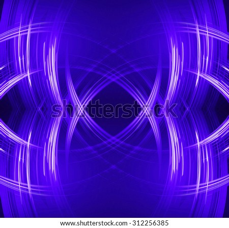 abstract background with blurred magic neon light rays. illustration. dark blue Light background for computer graphic website internet and business. wave. curve. neon