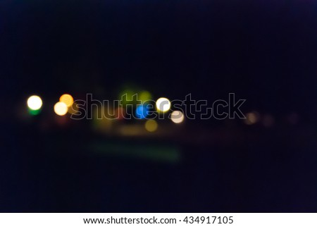 Abstract background with bokeh defocused lights and shadow taken at the beach bar ,Koh mak,Trat,Thailand - stock photo