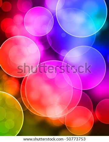 abstract background with bokeh effect with overlapping dots