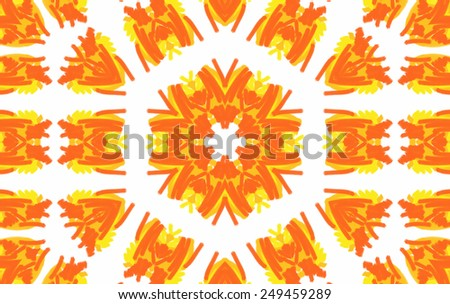 Abstract background with bright color pattern on white background - stock photo